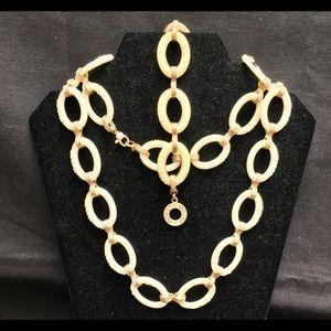 Vintage Monet Demi Parure, Necklace & Bracelet